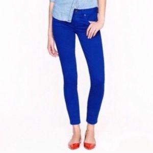 J Crew Toothpick Skinny Royal Blue Jeans Sz 26